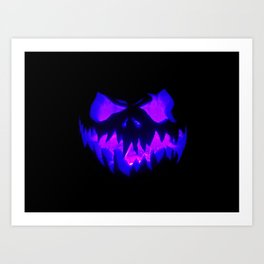 Blue Demon Nightmare Art Print