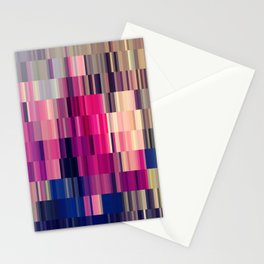 Abstract summer bright square pattern Stationery Cards