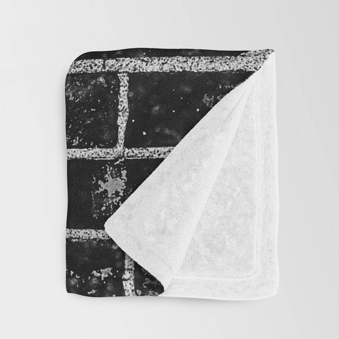 Black and white basketball artwork Throw Blanket