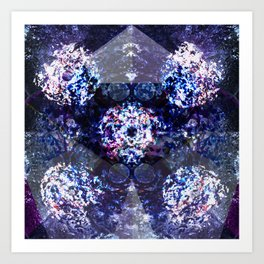 Disco Kaleidoscope Art Print