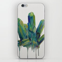 Green Crystal iPhone Skin