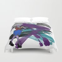 ursula Duvet Covers featuring Disneyland Ursula Evil Relations by Joey Noble