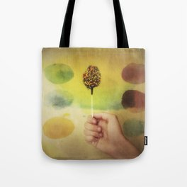 Once Upon a Time a Colorful Candy Tote Bag