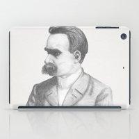 nietzsche iPad Cases featuring Friedrich Nietzsche by tavislea