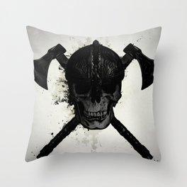 Viking Skull Throw Pillow