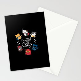 Dungeons And Cats Stationery Cards