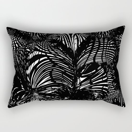 black stripes chaos Rectangular Pillow