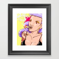 Kittysplif Framed Art Print