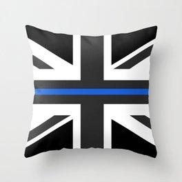 Thin Blue Line UK Flag Throw Pillow