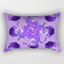 Purple Iris Abstract  Collage Art Rectangular Pillow