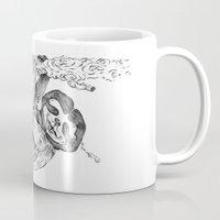 clockwork Mugs featuring clockwork sloth by vasodelirium