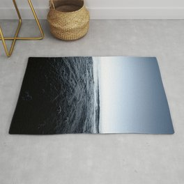 Beautiful Sunset and Bubbly Water Classic Blue Pantone Colour of the Year Rug