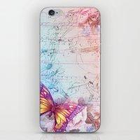 butterflies iPhone & iPod Skins featuring butterflies by haroulita