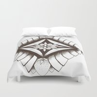 dream catcher Duvet Covers featuring Dream catcher by Ckeeling