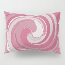 Spiral in Pink and White Pillow Sham