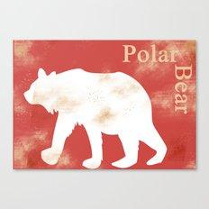 Animals Illustration - Polar Bear Canvas Print