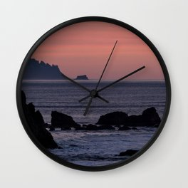 Oregon Coast Sunset Wall Clock