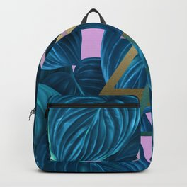 tropical turquoise leaves pattern Backpack