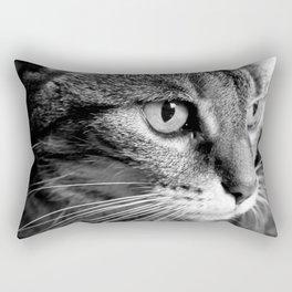 cat look Rectangular Pillow