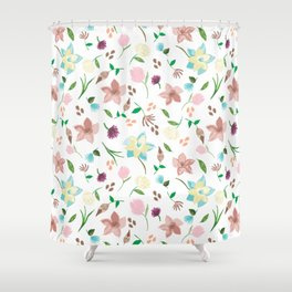 Tropical pastel themed pattern Shower Curtain