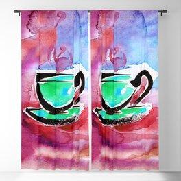 Coffee Dreams 13d by Kathy Morton Stanion Blackout Curtain