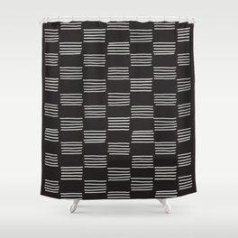 hatches –almost black and white Shower Curtain