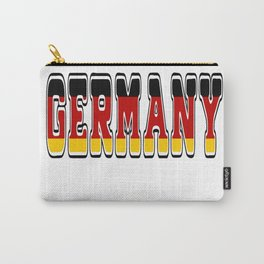 Germany Font #1 with German Flag Carry-All Pouch