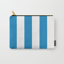 Sea Breeze Large Blue and White Vertical Stripes Carry-All Pouch