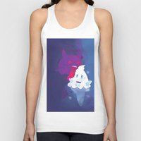gengar Tank Tops featuring Gengar eating ice cream by Alvaro Núñez