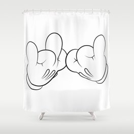 Blood Gloves Shower Curtain