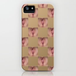 Checkerboard Pussy 2 iPhone Case