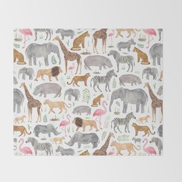 Safari Animals Throw Blanket