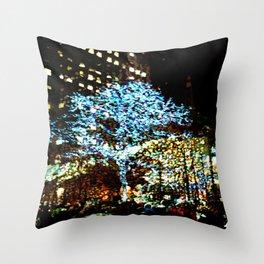 Holiday lights, Rockefeller Center, New York City, New York Throw Pillow