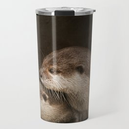 The curious otters Travel Mug