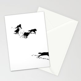 snowblinded // (wolf pack) Stationery Cards