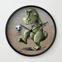 football Wall Clocks featuring Football! by Allan McInnes