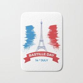 Bastille Day 14 July Bath Mat