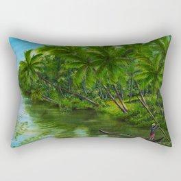 Backwaters India Rectangular Pillow
