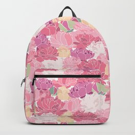 Rose Peony Flowers Backpack