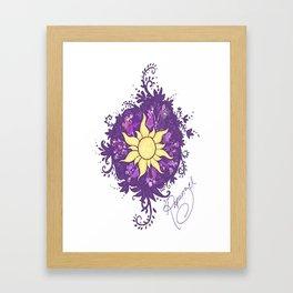 Tangled: Rapunzel's Kingdom Dance Chalk Drawing Framed Art Print