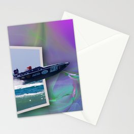 Offshore Addiction Speeds Out Of Frame Stationery Cards