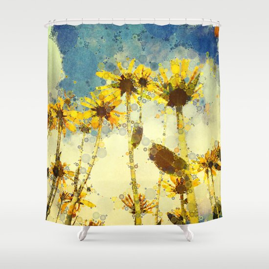Her Thoughts Were Happy and So Was Her Life Shower Curtain