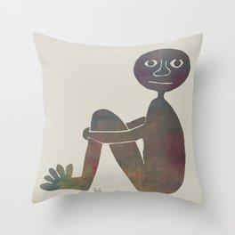 Sitting Still Throw Pillow
