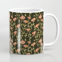Dark Botanical Pattern Coffee Mug