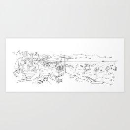 Victoria Beach Art Print