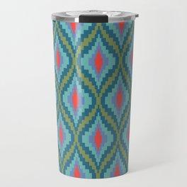 Bright Flame Bargello Travel Mug