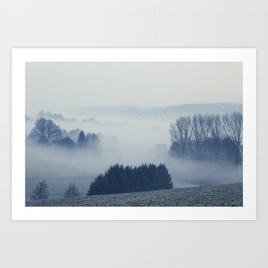 White Cover Art Print