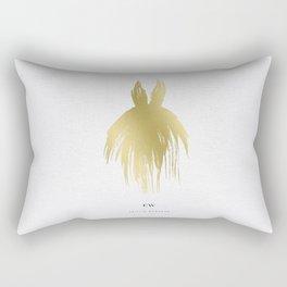 Little Gold Gown Rectangular Pillow