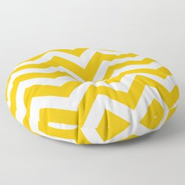 Selective yellow - orange color - Zigzag Chevron Pattern Floor Pillow