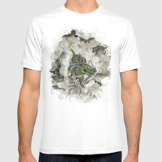 Dragon of The Mist White Mens Fitted Tee MEDIUM